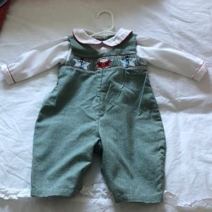 Smocked Christmas outfit